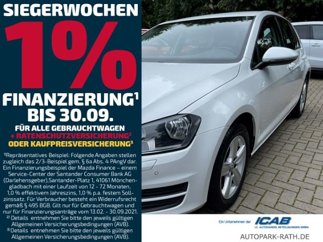 Volkswagen Golf VII 1.2 Comfortline * NAVI / LEDER / PDC Vorne + Hinten, Jahr 2014, Benzin