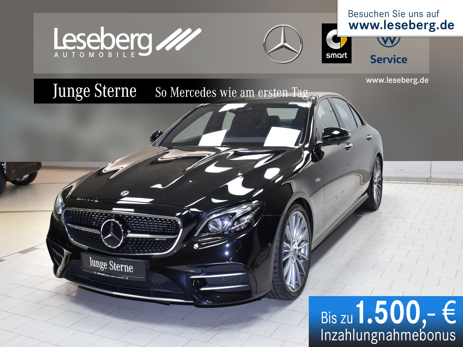 Mercedes-Benz Mercedes-AMG E 53 4MATIC+ Pano/Distr/360°/AHK, Jahr 2019, Benzin
