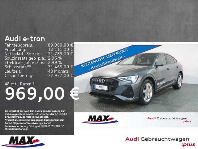 Audi e-tron Sportback 55 quattro Matrix LED+PANO+HUD, Jahr 2020, Elektro