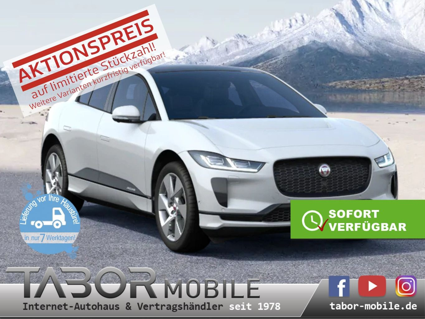 Jaguar I-Pace EV400 AWD SE PanoD BlackP Privacy el-HK, Jahr 2019, electric