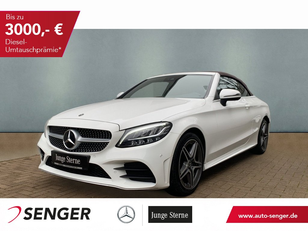 Mercedes-Benz C 180 Cabrio AMG LED NAVI Kamera Assistenz Paket, Jahr 2020, Benzin