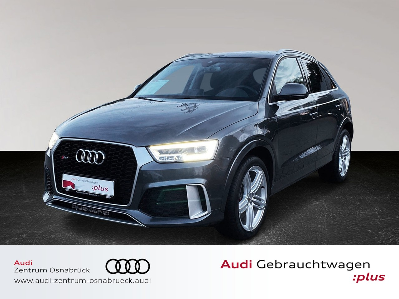 Audi RS Q3 2.5 TFSI S tronic quattro Navi RFK Pano BOSE DAB el. Heckklappe Optikpaket Komfortschlüssel, Jahr 2015, Benzin