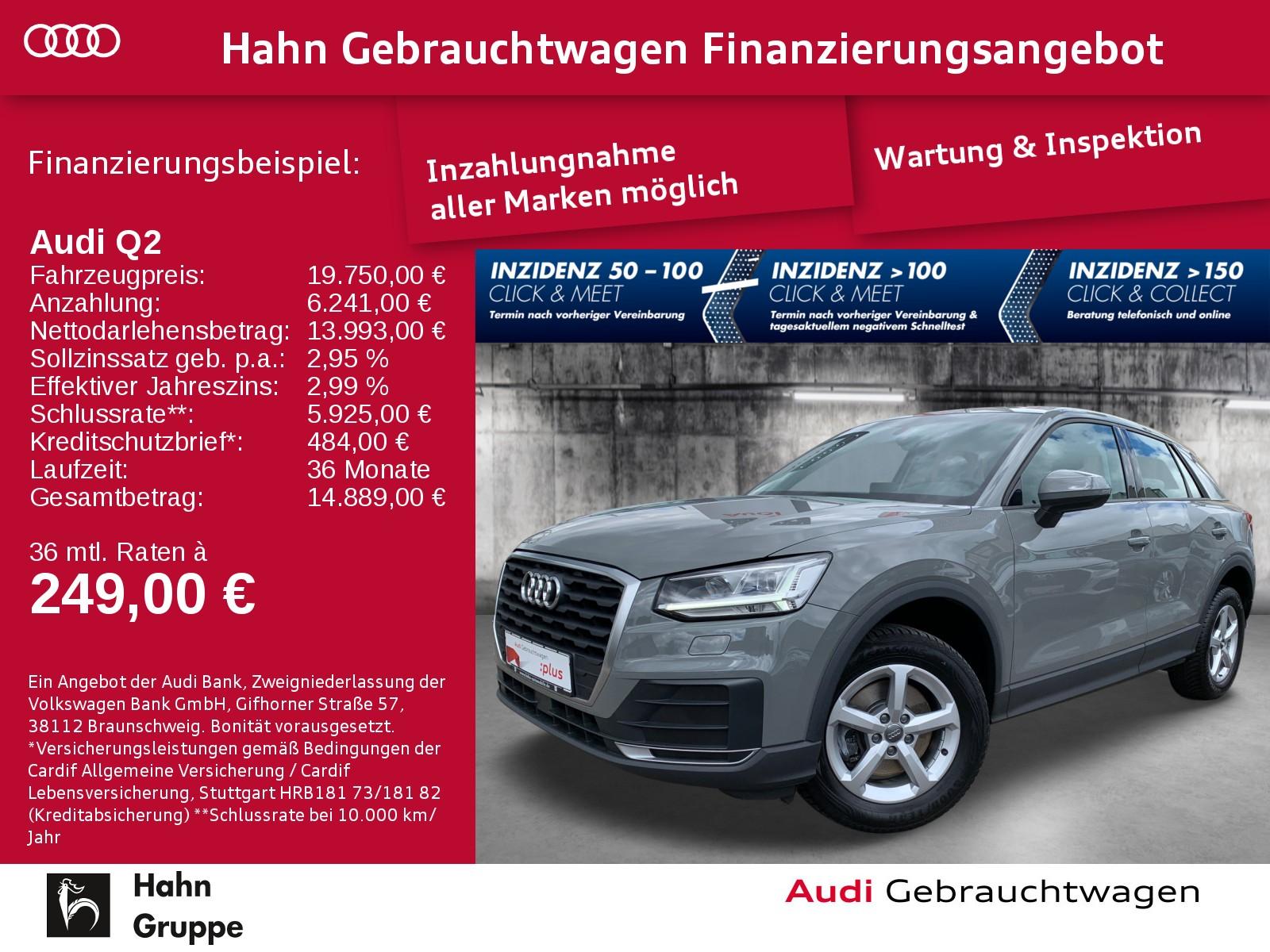 Audi Q2 1.0 TFSI LED Sitzh Einpark Navi-Vorb. Tempo, Jahr 2018, Benzin