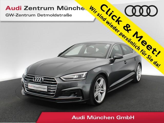 "Audi A5 Sportback 40 TDI qu. Sport S line Standhz. Virtual LED Assistenz Navi Leder 19"" S tronic, Jahr 2019, diesel"
