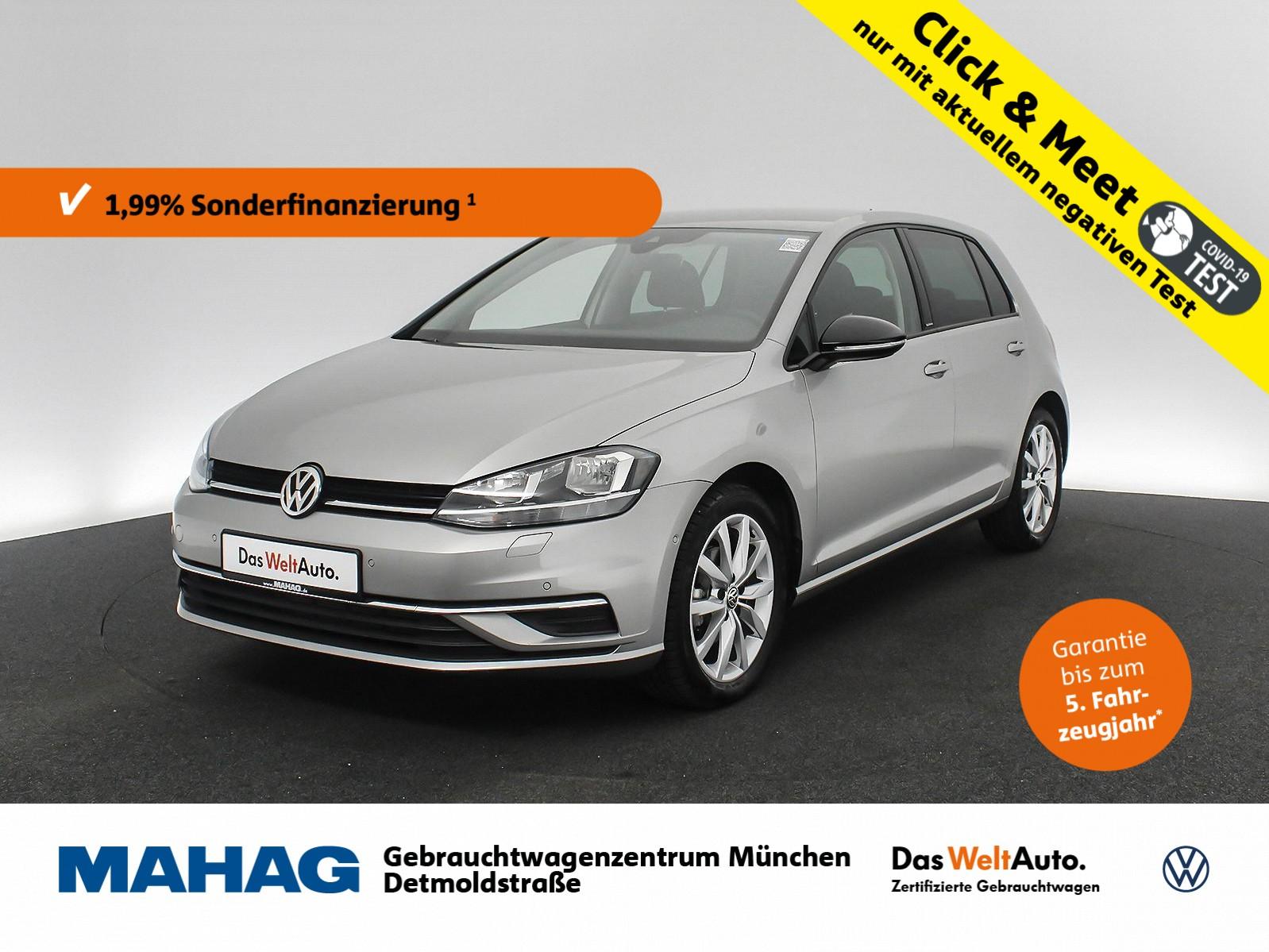 Volkswagen Golf VII 1.0 TSI IQ.DRIVE Navi Standhz. Sitzhz. ParkAssist LightAssist FrontAssist 17Zoll 6-Gang, Jahr 2019, Benzin