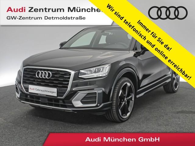 """Audi Q2 1.4 TFSI Design 19"""" HUD Virtual LED Navi Leder PDCplus S tronic, Jahr 2017, petrol"""