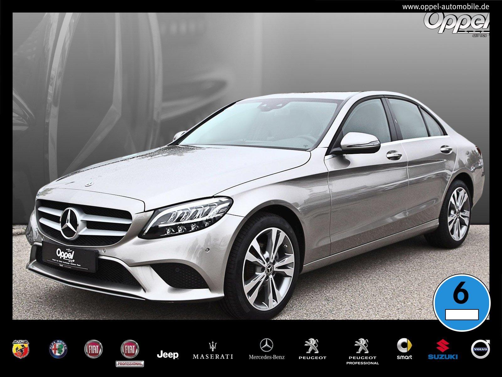 Mercedes-Benz C 160 NAVI+LED+SHZ+RÜCKFAHRKAMERA+TOTWINKL.+9G, Jahr 2019, Benzin