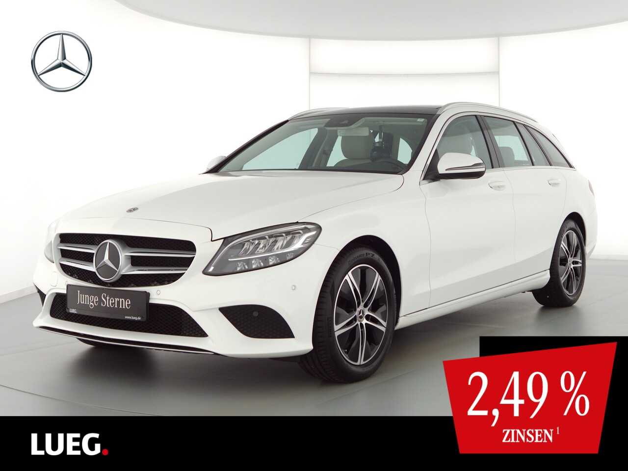 Mercedes-Benz C 180 T Avantgarde+Navi+Pano+LED-HP+SpurP+Kamera, Jahr 2020, Benzin