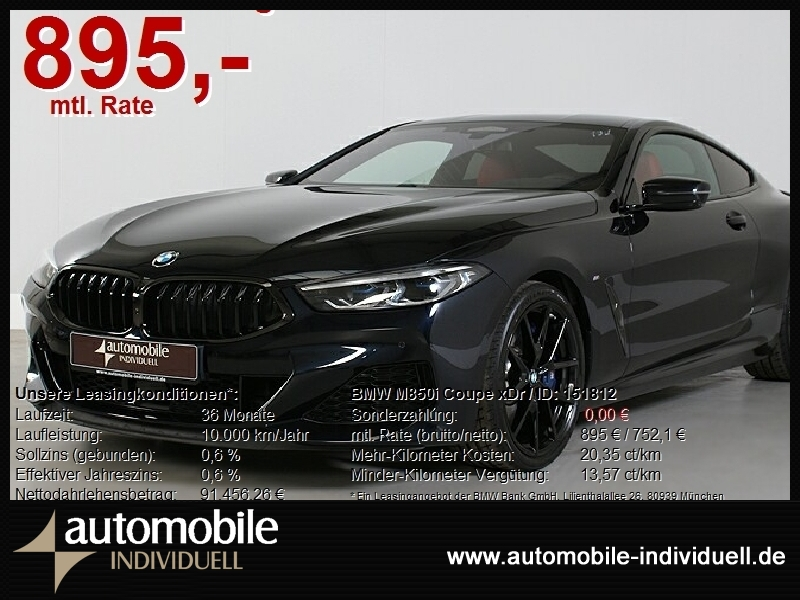 BMW M850i Coupe xDr Laser ACC HuD H&K, Jahr 2020, Benzin