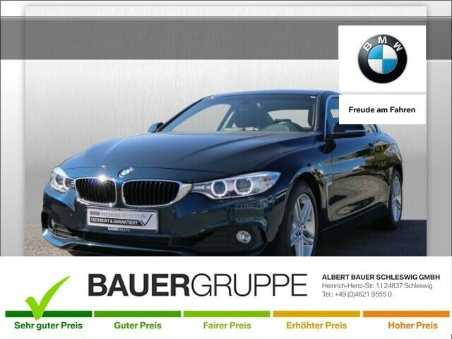 BMW 420 i Bluetooth Navi Klima PDC el. Fenster, Jahr 2015, Benzin