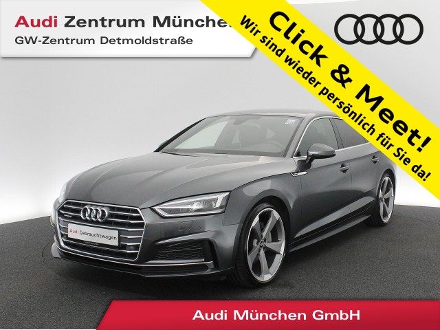 "Audi A5 Sportback 40 TDI qu. Sport S line 20"" B&O AHK Virtual MatrixLED Standhz. Navi Teilleder S tronic, Jahr 2019, diesel"