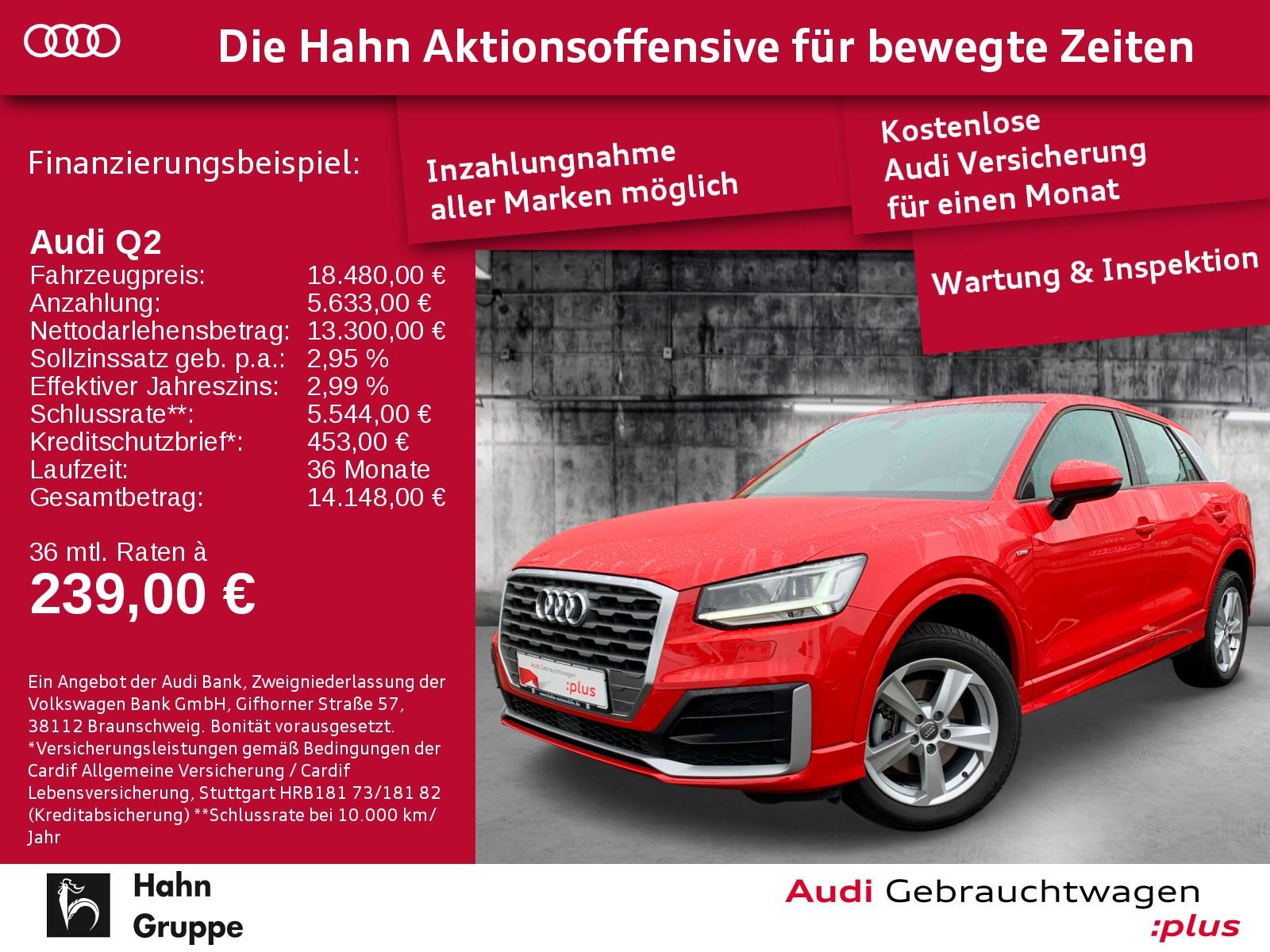 Audi Q2 1.4TFSI Sport LED SitzH EinparkH, Jahr 2017, Benzin