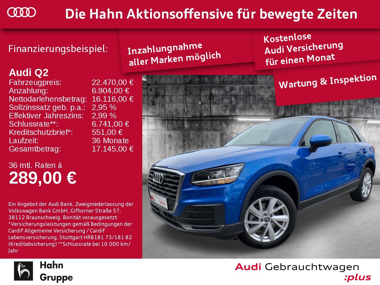 Audi Q2 1.4TFSI S-line Navi SitzH Cam EinparkH Tempo, Jahr 2017, Benzin