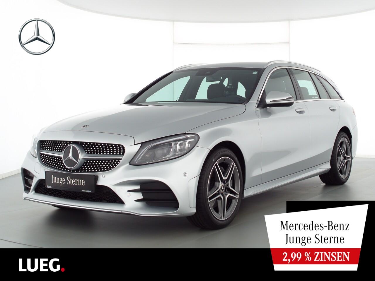 Mercedes-Benz C 180 T AMG+Navi+Mbeam+SpurP+eHeck+CarPl+ParkAss, Jahr 2020, Benzin