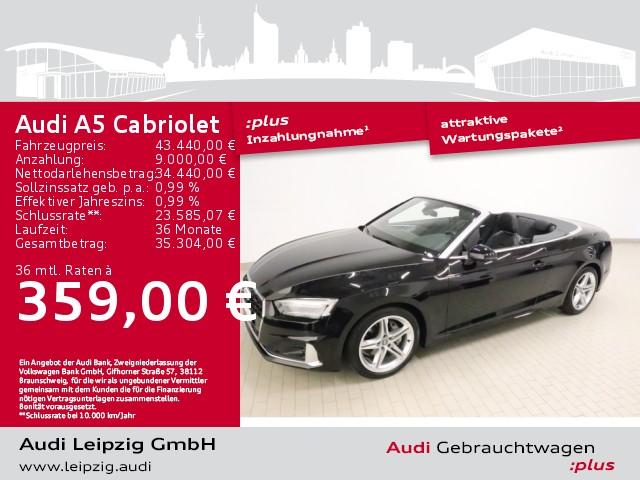 Audi A5 Cabriolet 40 TDI advanced quattro *S tronic*, Jahr 2020, Diesel