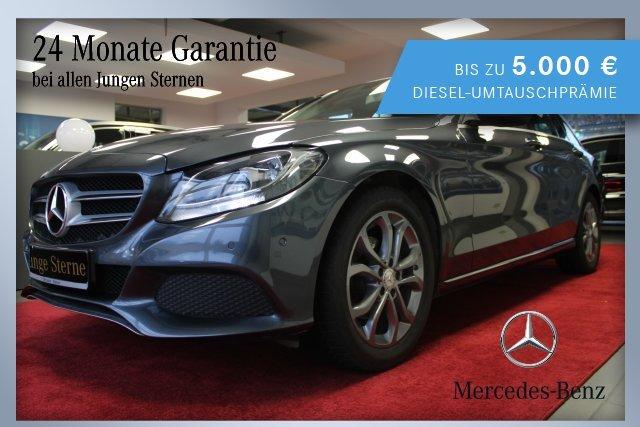 Mercedes-Benz C 180 T-Modell AVANTGARDE Exterieur+Sitzhzg.+BC, Jahr 2016, Benzin