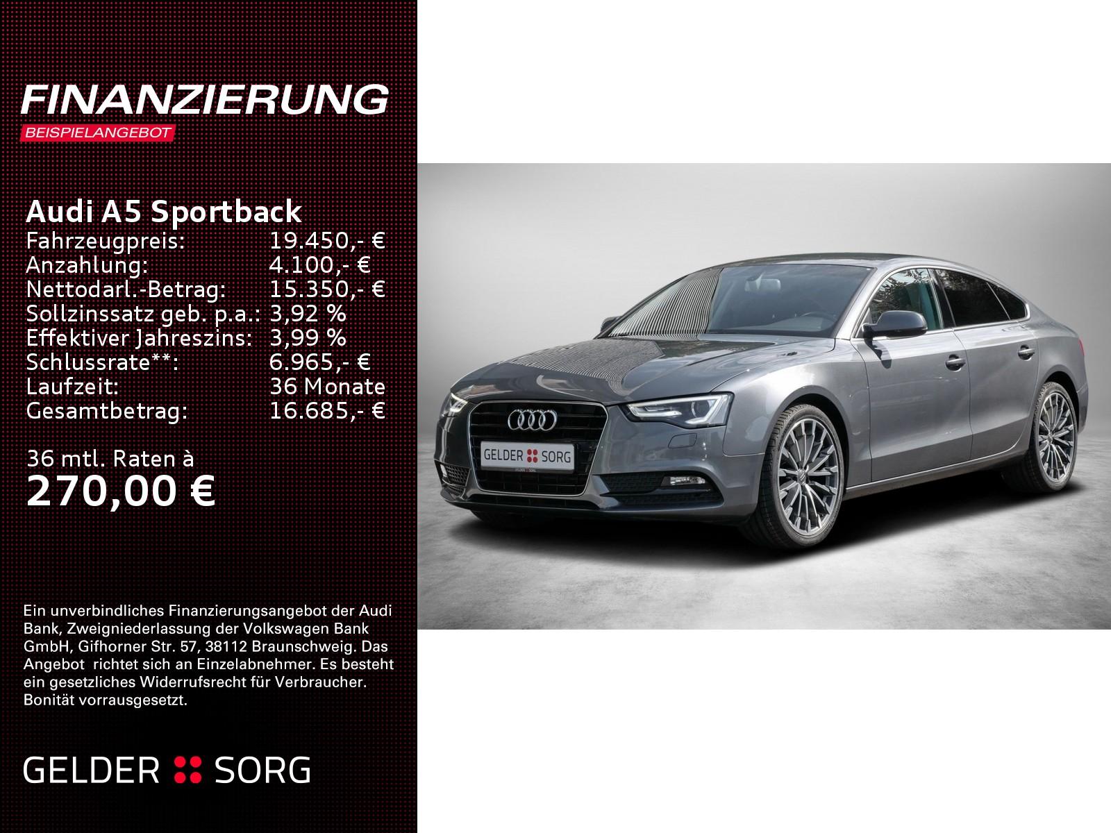 Audi A5 Sportback 2.0 TDI *Xenon*Navi*EPH*Klima*EURO6, Jahr 2016, Diesel