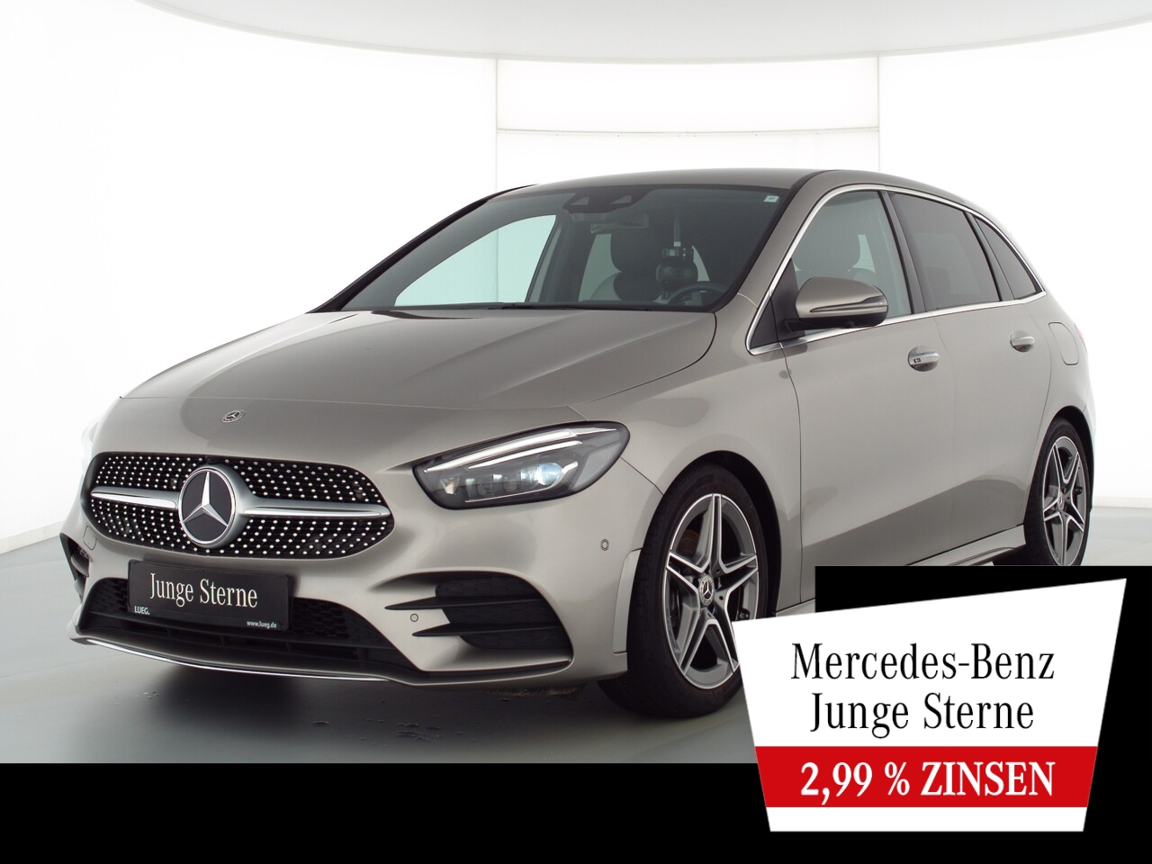 Mercedes-Benz B 160 AMG+MBUX+Mbeam+Sitzkl+Sound+KeyGo+HUD+360°, Jahr 2019, Benzin
