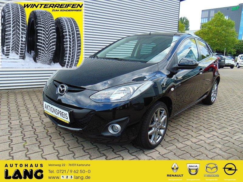 Mazda 2 1.3 Kenko Multif.Lenkrad Klima SHZ PDC CD MP3, Jahr 2014, petrol