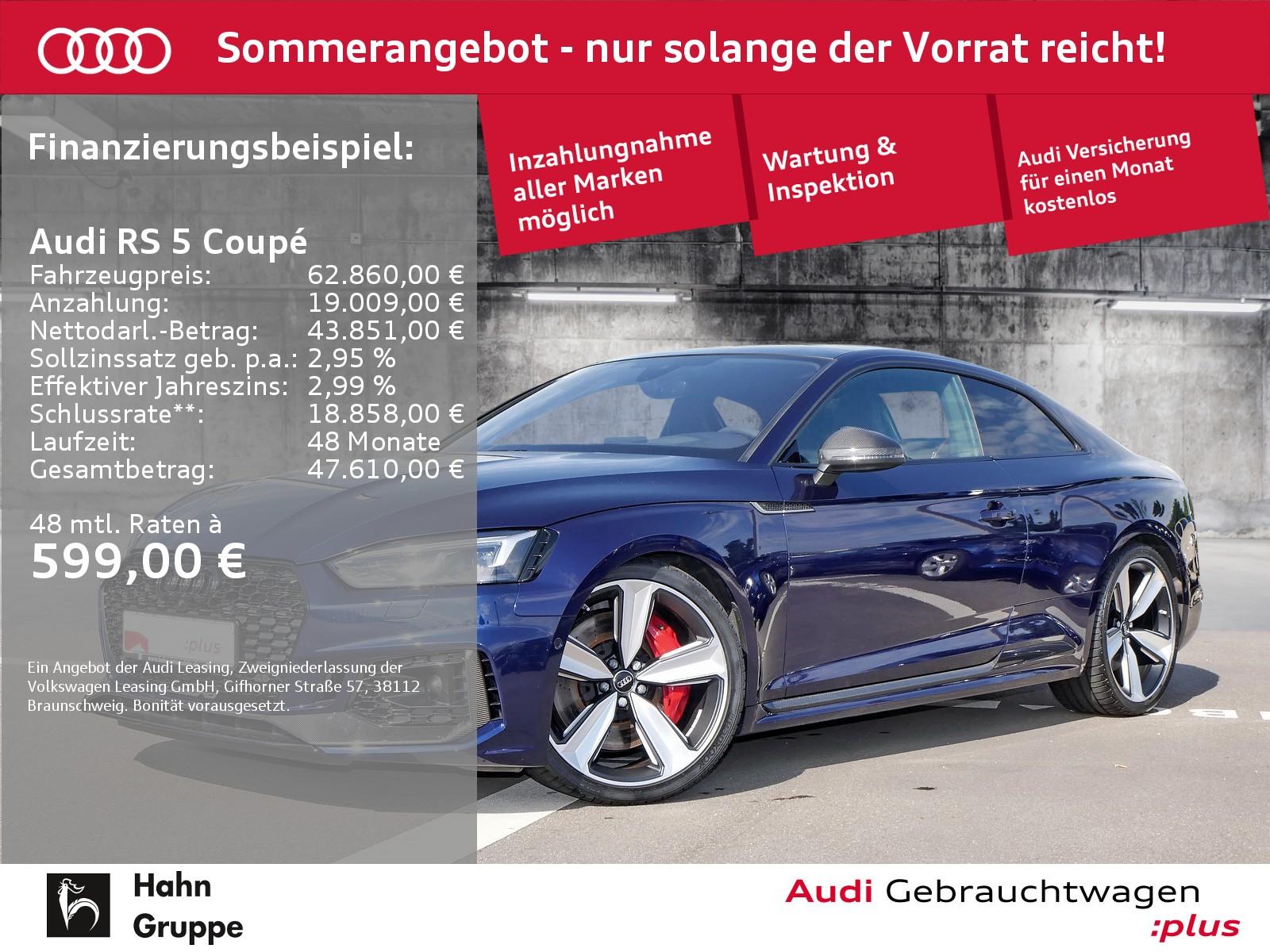 Audi RS 5 Coupé 2.9TFSI qu. Matrix Carbon B&O Pano RS AbGasanlage, Jahr 2018, Benzin