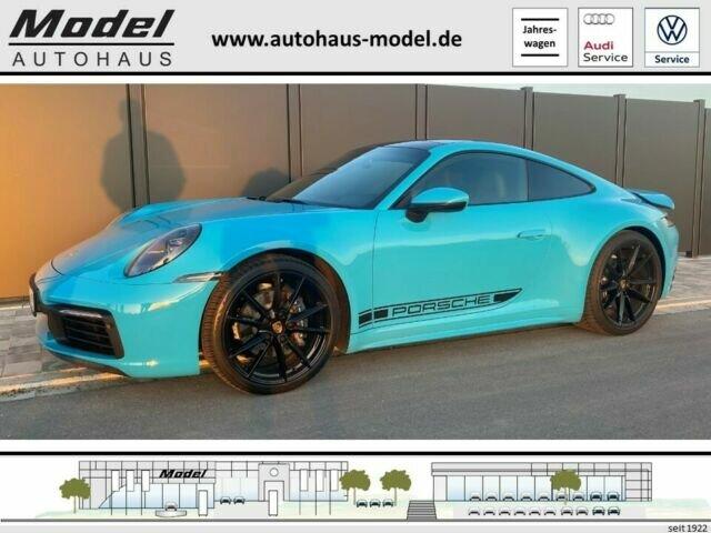 Porsche 911 Carrera 4 Coupé | Schiebedach | Miamiblau, Jahr 2020, Benzin