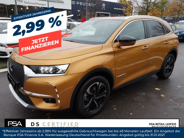 DS Automobiles DS7 Crossback SO CHIC PureTech 225 EAT8 / Navi/ LED/ Leder, Jahr 2019, Benzin