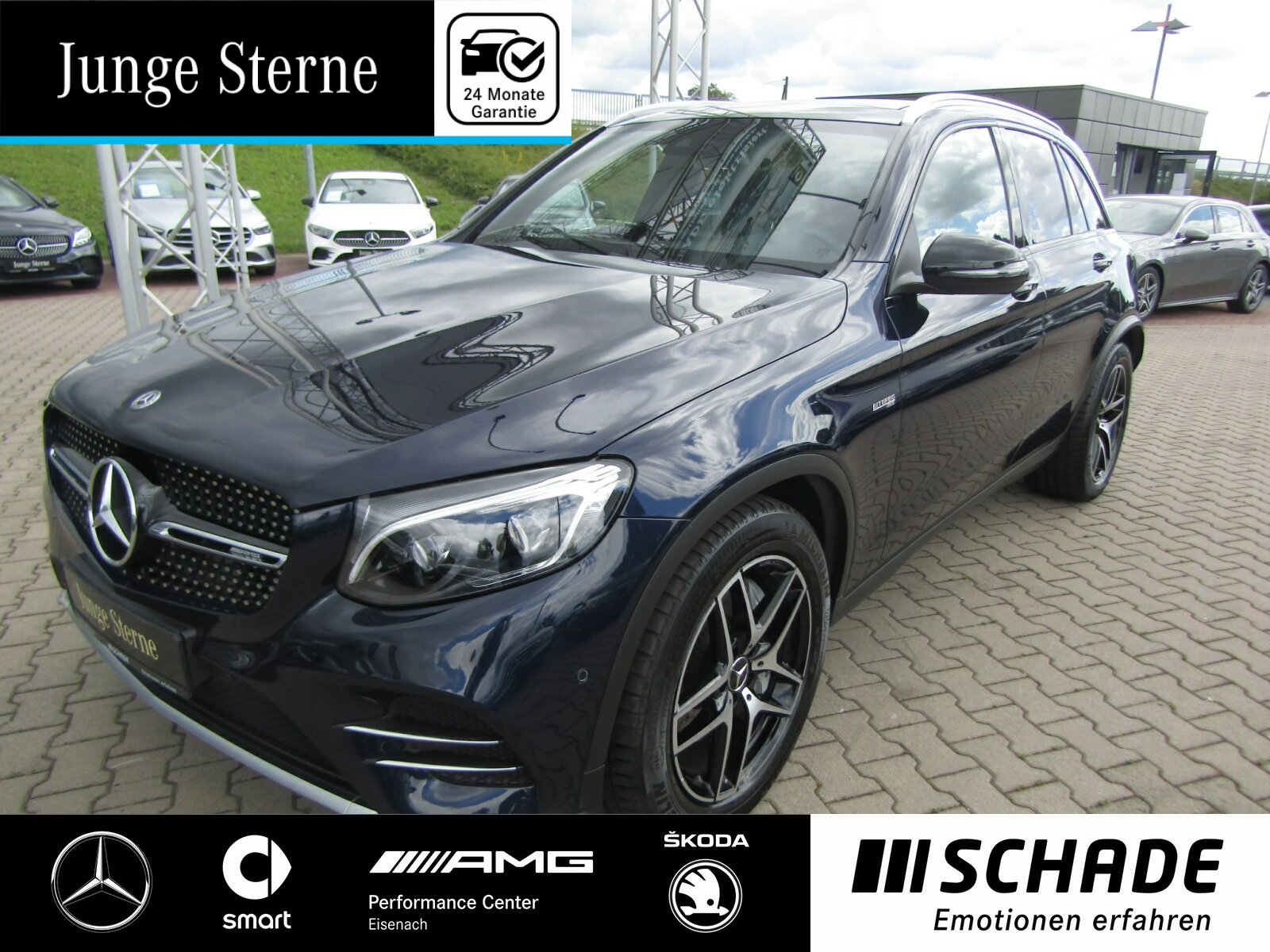 Mercedes-Benz GLC 43 4M AMG *Panorama*AHK*LED*Airmatic*Kamera*, Jahr 2017, Benzin