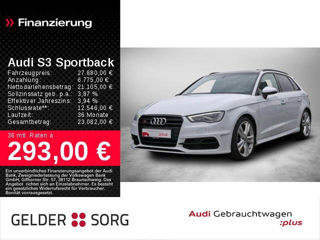 Audi S3 Sportback 2.0 TFSI qu. Pano*Navi*DAB*S-Sitze, Jahr 2013, Benzin