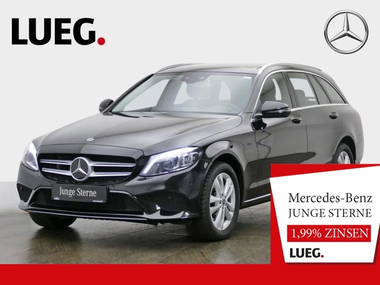 Mercedes-Benz C 200 T 4M Avantgarde+COM+Pano+Mbeam+SpurP+RFK++, Jahr 2019, Benzin
