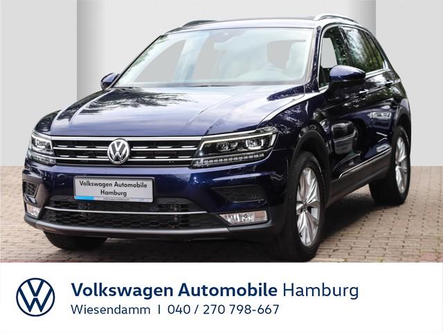 Volkswagen Tiguan Highline 2.0 TDI DSG 4M AHK anklappbar Navi DCC Klimaautomatik LM LED, Jahr 2017, Diesel