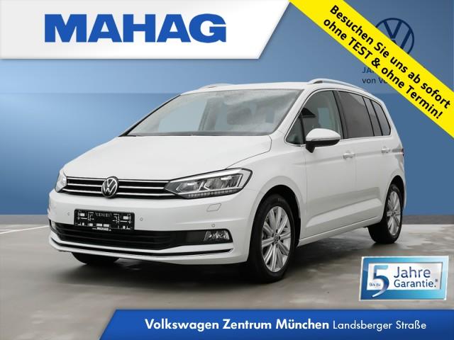Volkswagen Touran 1.5 TSI Highline 7-Sitzer Navi LED DAB+ Sitzhz. ParkPilot FrontAssist 17Zoll DSG, Jahr 2020, Benzin