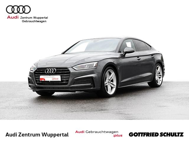 Audi A5 Sportback 2.0TFSI 2X S-LINE B&O LEDER DAB VIRTUAL LED NAV GRA SHZ 19ZOLL Sport, Jahr 2018, Benzin