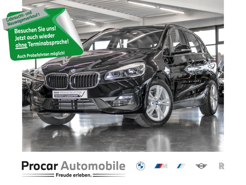 BMW 218i Active Tourer Adv LED Navi Temp RFK Parkass PDC, Jahr 2018, Benzin