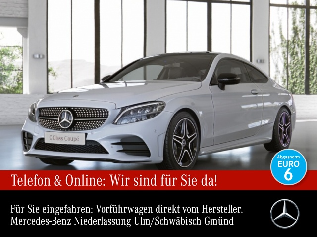 mercedes-benz c 300 d cp. amg pano distr. comand led night pts, jahr 2020, diesel