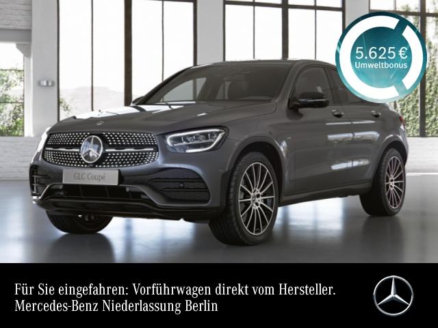 Mercedes-Benz GLC 300 de 4M Coupé AMG+Night+360+LED+Spur, Jahr 2021, Hybrid_Diesel