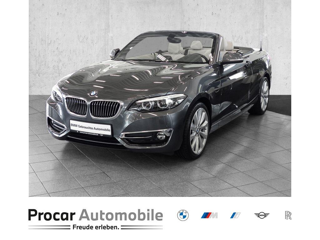 BMW 230i NAVI+LED+RFK+AHK+HiFi+KLIMAAUT.+SPORTSIT+FINab1%, Jahr 2018, Benzin