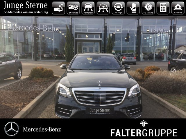Mercedes-Benz S 560 4M AMG Pano DISTR Massage HUD NachtsichtTV, Jahr 2017, petrol