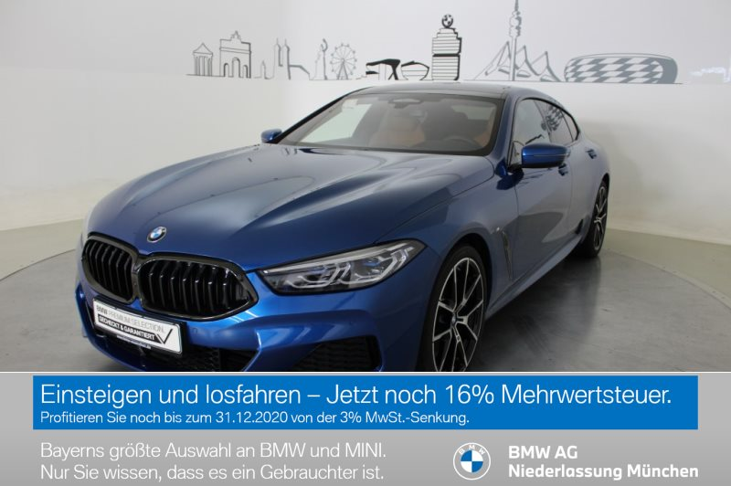 BMW 840d xDrive Gran Coupé Sportpaket B&W Surround EURO 6, Jahr 2019, Diesel