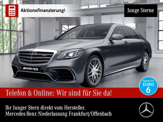 Mercedes-Benz S 63 AMG 4M+ Lang Carbon Keramik Driversp Stdhzg, Jahr 2017, Benzin