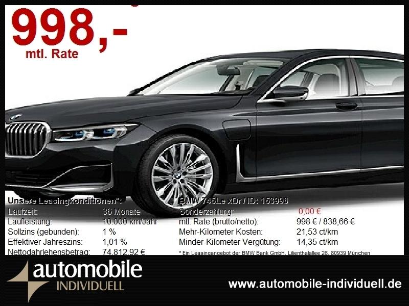BMW 745Le xDr NightVision 3xTV 4xel.Sitze ACC Laser, Jahr 2020, Hybrid