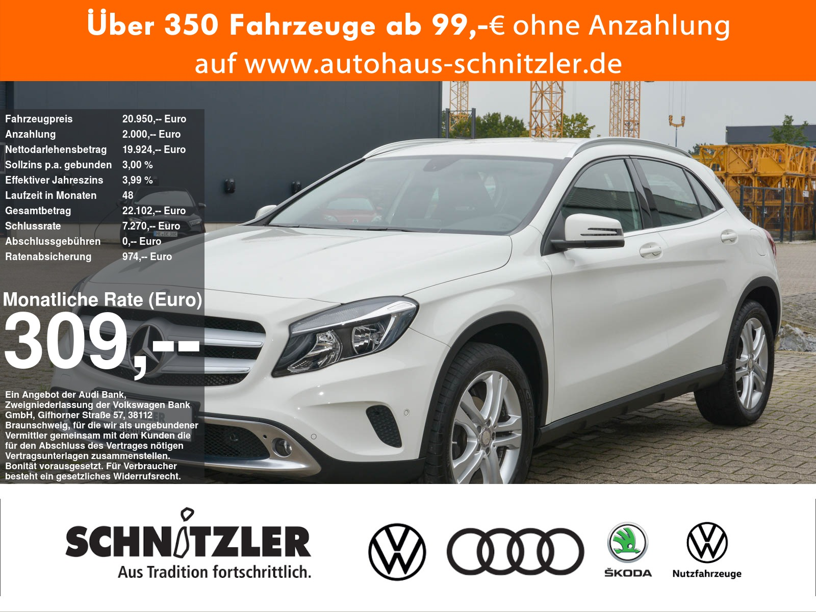Mercedes-Benz GLA 200 Urban Automatik TEMP/NAVI/EPH/+++, Jahr 2015, Benzin