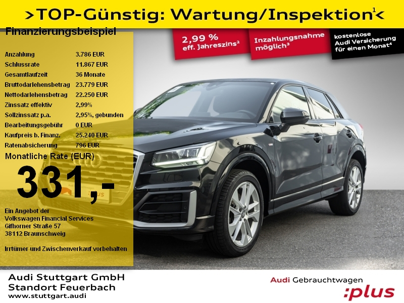 Audi Q2 Sport 1.4 TFSI S line Kamera LED ACC Navi AHK, Jahr 2018, Benzin