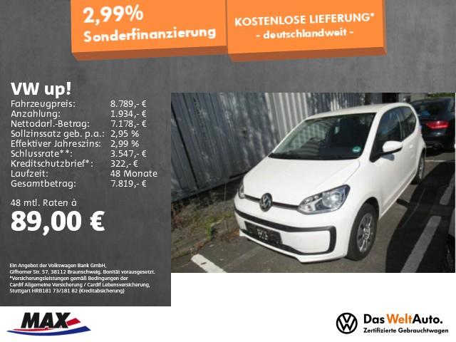 Volkswagen up! move up! 1.0 BMT KLIMA+COMPOSITION PHONE+USB, Jahr 2017, Benzin
