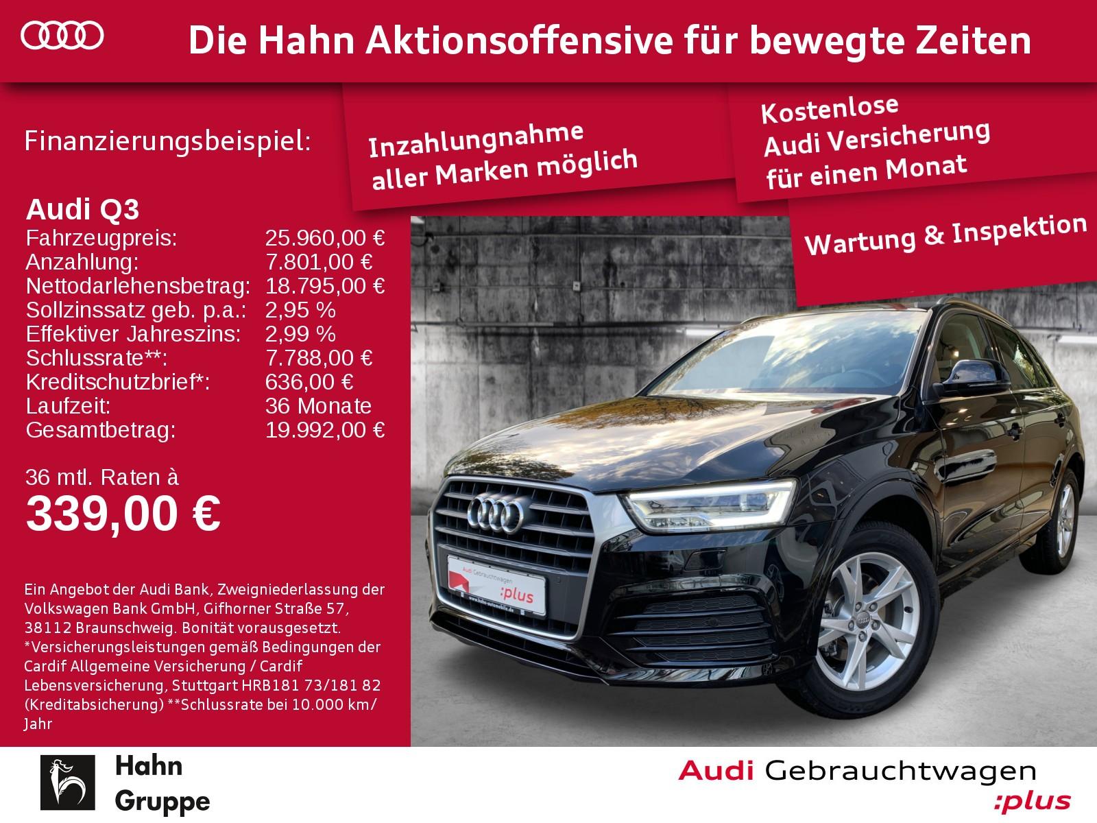 Audi Q3 1.4TFSI S-Trc Sport LED Navi Pano Alcantara, Jahr 2017, Benzin