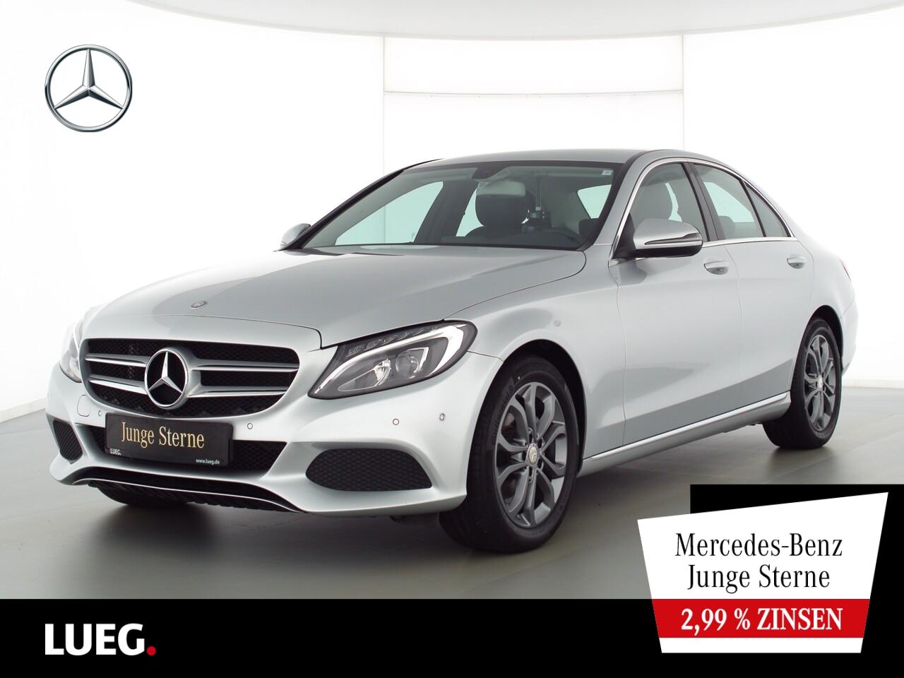 Mercedes-Benz C 180 Avantgarde+Navi+LED-HP+SHZ+akParkAssistent, Jahr 2016, Benzin