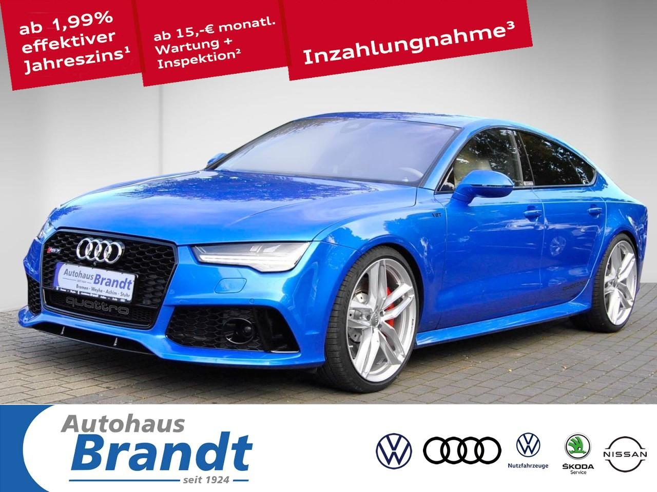 Audi RS7 Sportback plus AKRAPOVIC*SHD*eUPE: 161T.*B&O*LEDER, Jahr 2016, Benzin