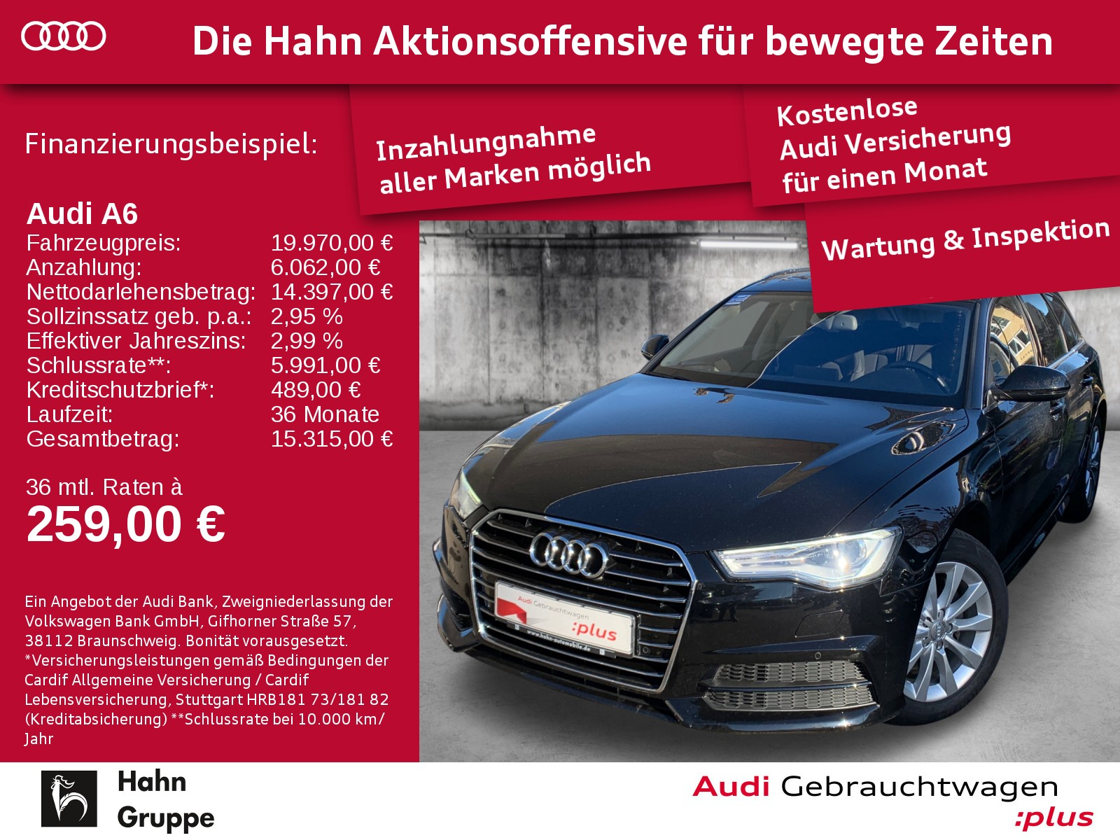 Audi A6 Avant 2.0TDI S-Trc Ultra Sitzh Pano Navi AHK EinparkH, Jahr 2016, Diesel