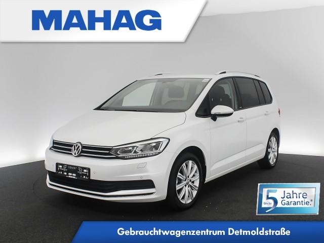 Volkswagen Touran UNITED 1.5 TSI 7-Sitzer Navi LED Standhz. AppConnect ParkPilot LightAssist FrontAssist 17Zoll 6-Gang, Jahr 2020, Benzin
