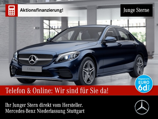 Mercedes-Benz C 180 AMG Multibeam AHK Kamera PTS Sitzh Temp, Jahr 2019, Benzin
