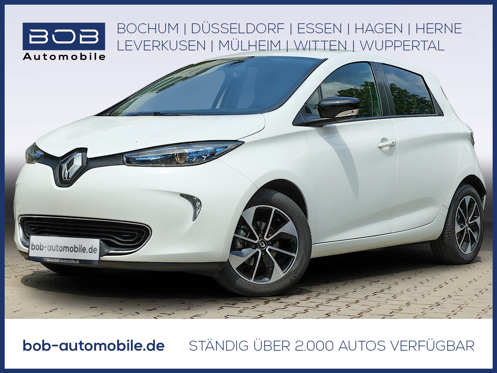 Renault ZOE Zoe NAVI PDC KLIMA LM-Felgen BT ZV SERVO AUX, Jahr 2017, Elektro